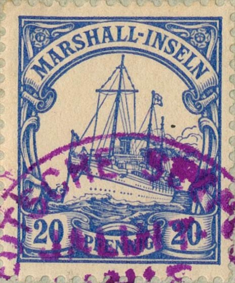 Marshall_Islands_Kaiseryacht_20pf_Genuine