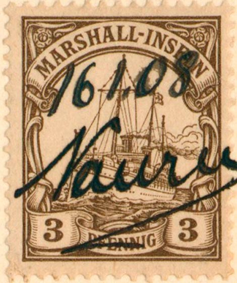 Marshall_Islands_Kaiseryacht_3pf_Genuine