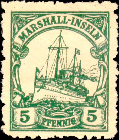 Marshall_Islands_Kaiseryacht_5pf_Fournier_Forgery