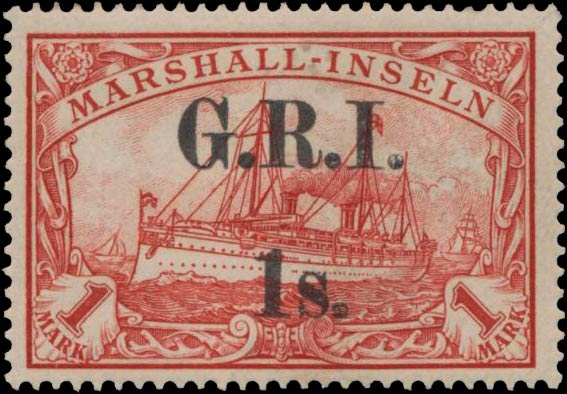 Marshall_Islands_New_Britain_1914_GRI_1m_Type-2_Genuine
