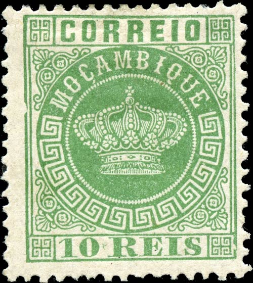 Mocambique_Crown_10Reis-green_Genuine