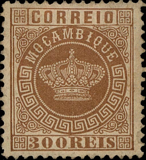 Mozambique_Crown_300Reis_Genuine