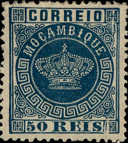 Mozambique_Crown_50Reis-blue_Genuine