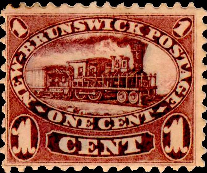 New_Brunswick_1c_Locomotive_Genuine