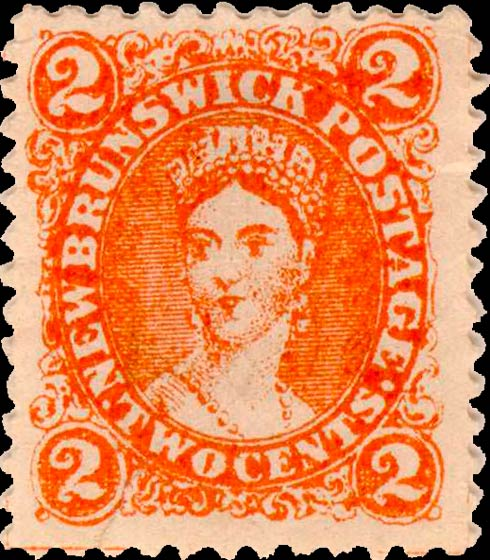 New_Brunswick_2c_Queen_Victoria_Spiro_Forgery