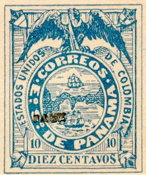 Panama_1878_10c_Fournier_Forgery
