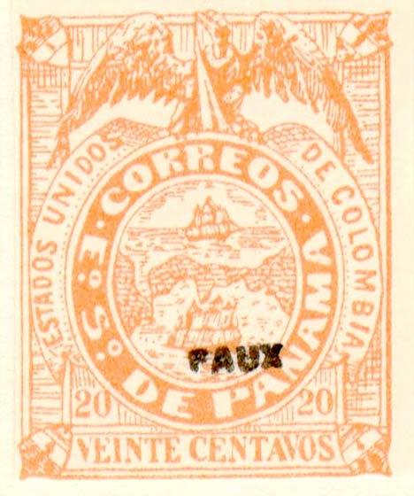 Panama_1878_20c_Fournier_Forgery