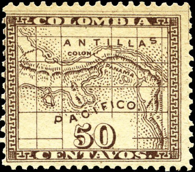 Panama_1887_Isthmus_of_Panama_50c_Forgery