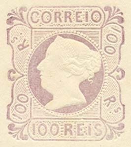 Portugal_1853_MariaII_100reis_1885-reprint