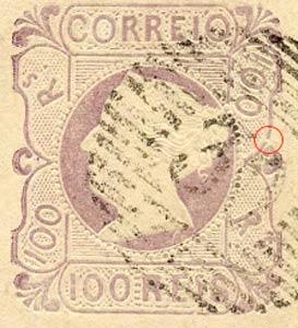 Portugal_1853_MariaII_100reis_1905-reprint