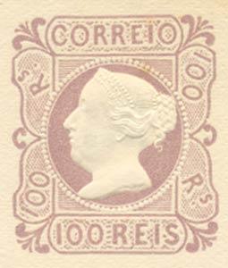 Portugal_1853_MariaII_100reis_1953-reprint