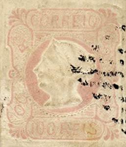 Portugal_1853_MariaII_100reis_Forgery