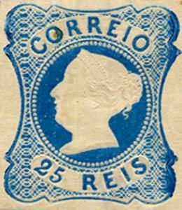Portugal_1853_MariaII_25reis_1863-reprint