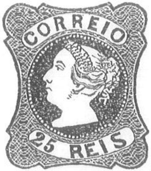 Portugal_1853_MariaII_25reis_Torres_Illustration