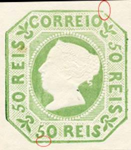 Portugal_1853_MariaII_50reis_1885-reprint