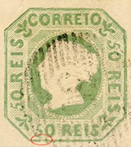Portugal_1853_MariaII_50reis_1905-reprint