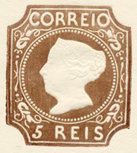 Portugal_1853_MariaII_5reis_1885-reprint