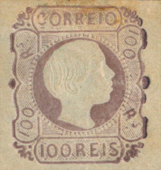 Portugal_1855_Pedro_100reis_Genuine