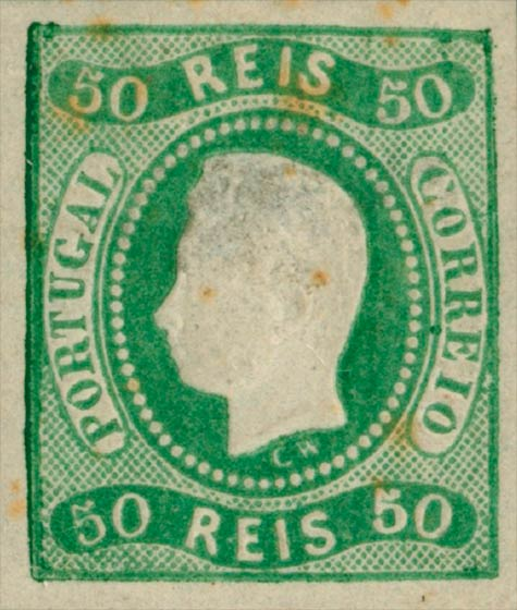 Portugal_1866_Luis_50reis_Genuine