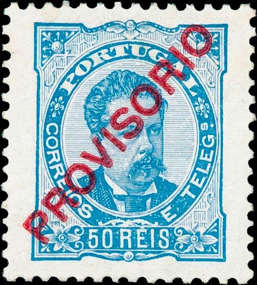 Portugal_1892-93_Provisorio_50reis_1905-reprint