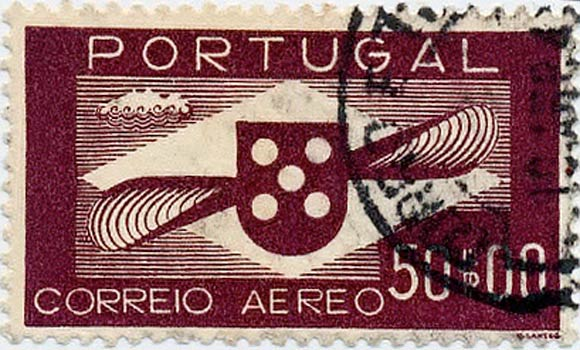 Portugal_1940_Airmail_50_Genuine