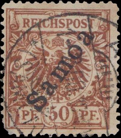 Samoa_1900_Reichpost_Samoa_50pf_Forgery
