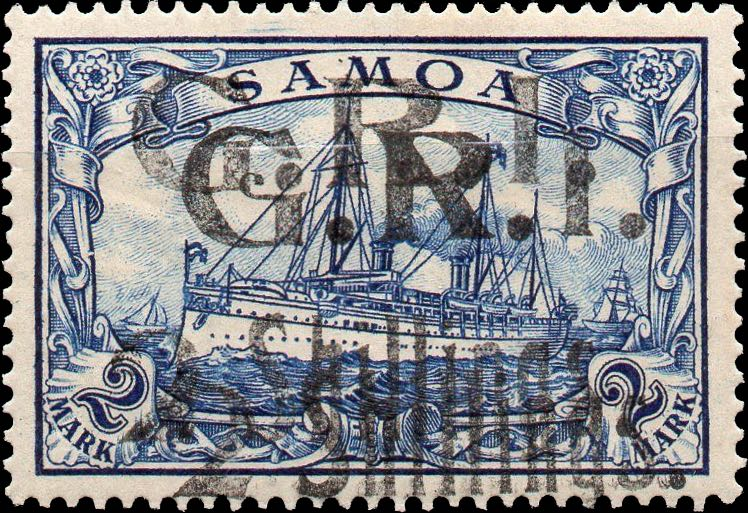 Samoa_GRI_2s-2m_Double_Overprint_Forgery