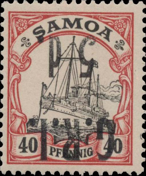 Samoa_GRI_5d-40pf_Inverted_Genuine