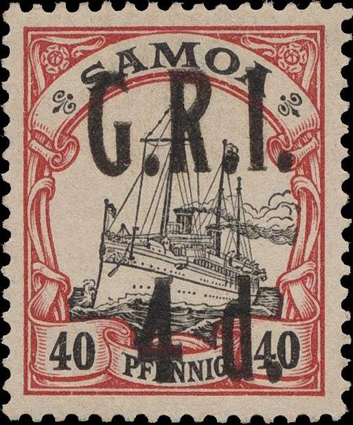 Samoa_GRI_5d-40pf_Variety2_Genuine