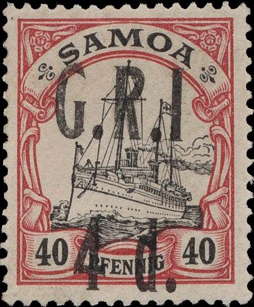 Samoa_GRI_5d-40pf_Variety3_Genuine