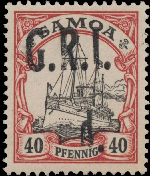 Samoa_GRI_5d-40pf_Variety_Genuine
