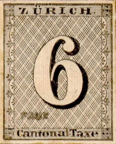 Zurich_1843_6rp_vertical-lines_Fournier_Forgery