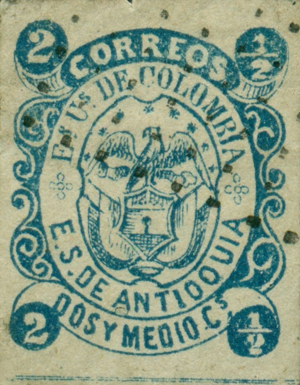 Antioquia_1869_Coat-of-Arms_2-5c_Forgery