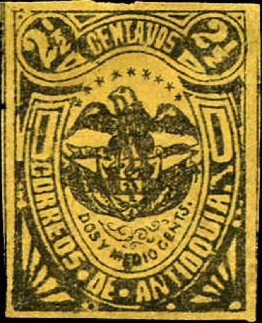 Antioquia_1886_Coat-of-arms_2.5c_Forgery