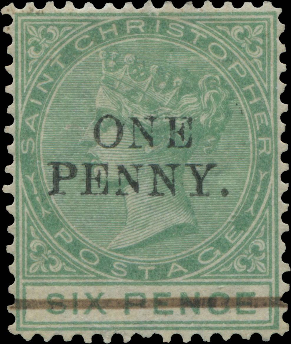 Dominica_1886_1d-on-6p_overprint_Forgery