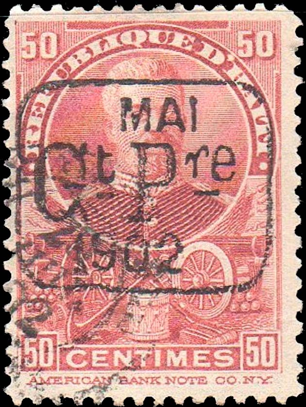 Haiti_1902_50c_Surcharged_Forgery