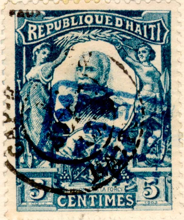 Haiti_1904_5c_Surcharged_Fournier_Forgery