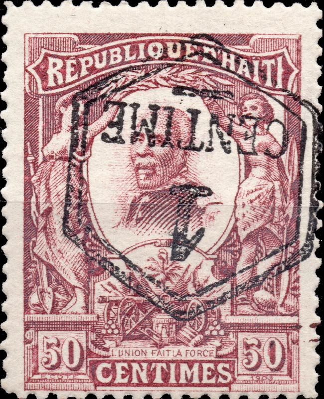 Haiti_1906_50c_Surcharged_Forgery