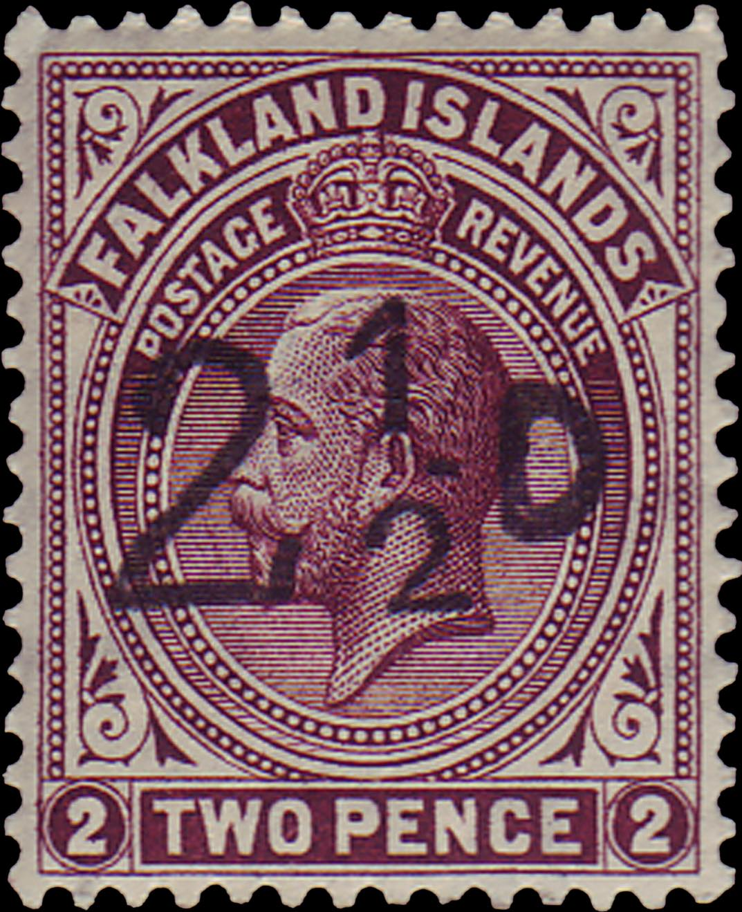 Falkland_Islands_1928_King_George_V_Surcharged_Forgery