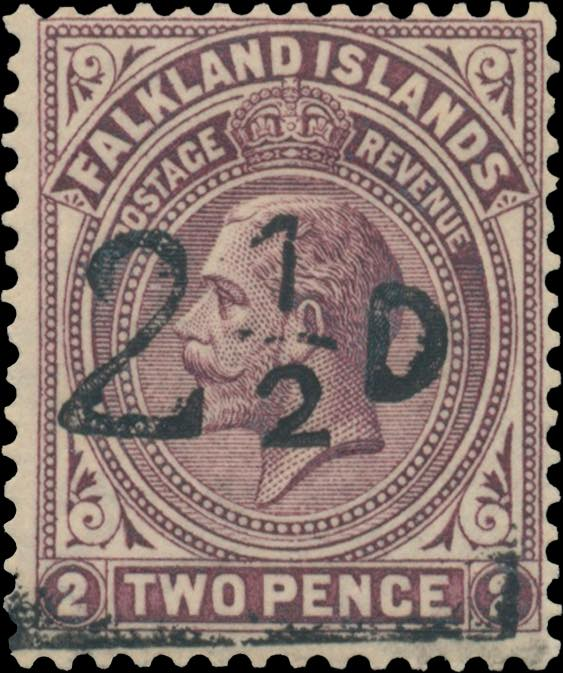 Falkland_Islands_1928_King_George_V_Surcharged_Genuine