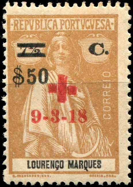 Lorenco_Marques_1918_Ceres_red-cross_50_Forgery