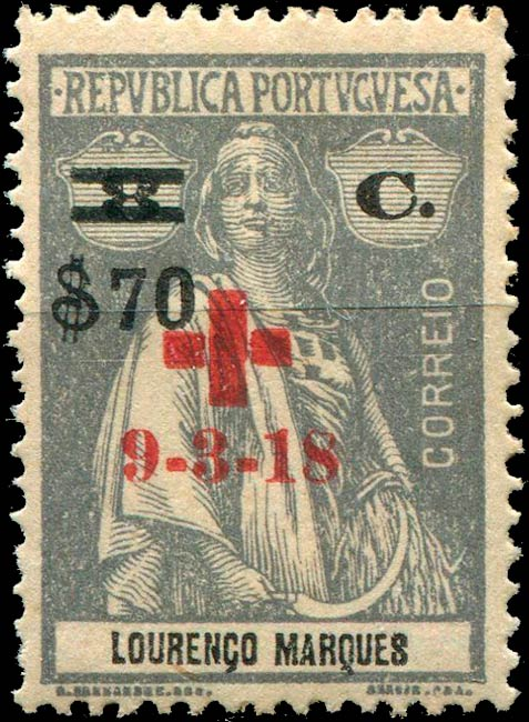 Lorenco_Marques_1918_Ceres_red-cross_70_Forgery