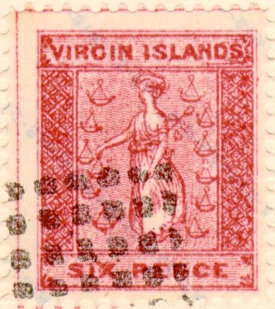 British_Virgin_Islands_1866_St.Ursula_6p_Fournier_Forgery