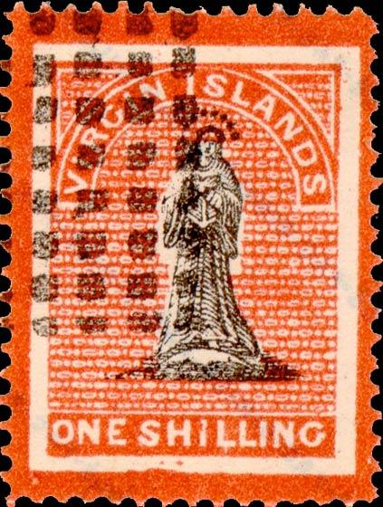 British_Virgin_Islands_1867_St.Ursula_1s_Fournier_Forgery1