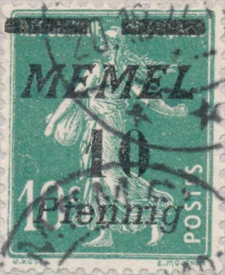 Memel_10f_Forged_Postmark