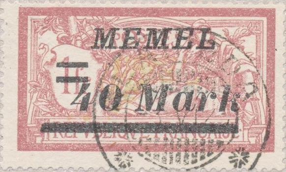 Memel_40m_Forged_Postmark