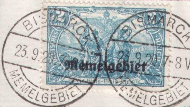 Memel_Bismarck_Forged_Postmark