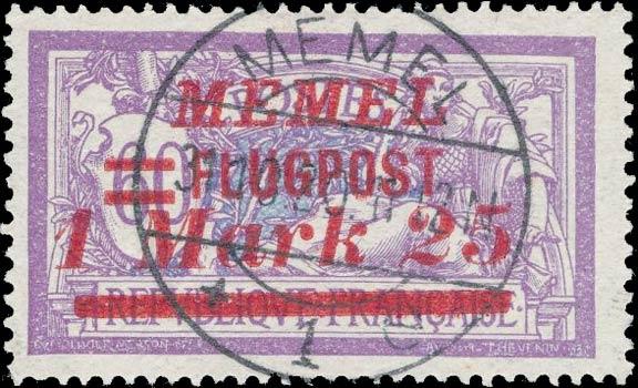 Memel_Flugpost_1.25m_Forged_Postmark