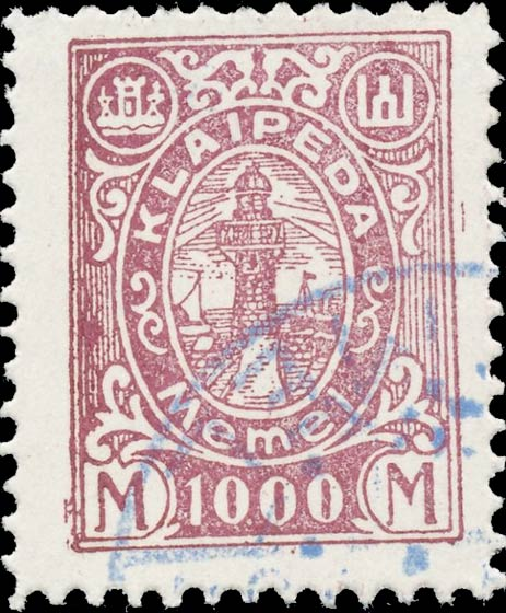 Memel_Klaipeda_1923_1000mark_Forgery