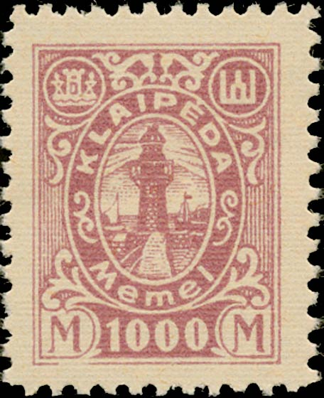 Memel_Klaipeda_1923_1000mark_Genuine